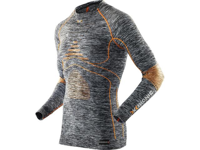 X-Bionic Accumulator Evo Melange UW Maglia girocollo a maniche lunghe Uomo, grey melange/orange